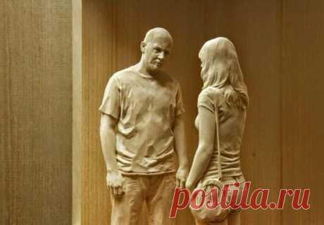 Художник создаёт удивительно реалистичные деревянные скульптуры