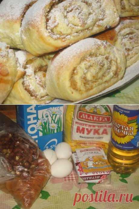 Мои любимые рецепты: Булочки с курагой и орехами