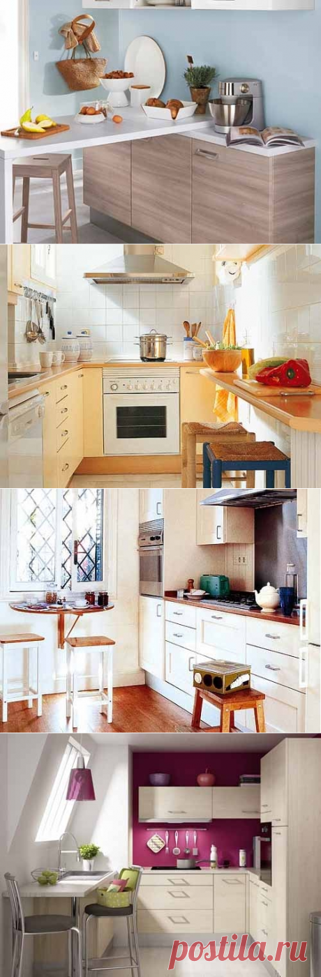 Стол для маленькой кухни: 12 идей практичного использования пространства - Учимся Делать Все Сами
