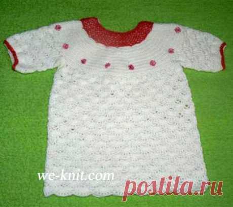 Платье для малышки связанное крючком