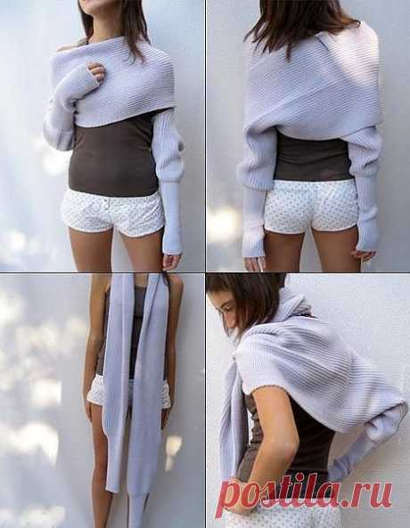 Шарф или свитер? / Свитер / Модный сайт о стильной переделке одежды и интерьера