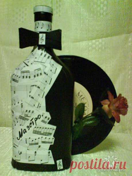 огромнейшая коллекция идей по декору бутылок!-1