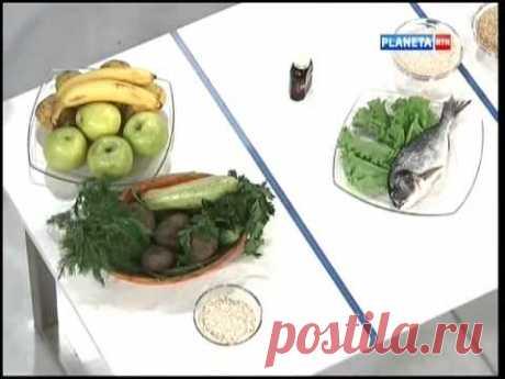 Diet against a hypertension