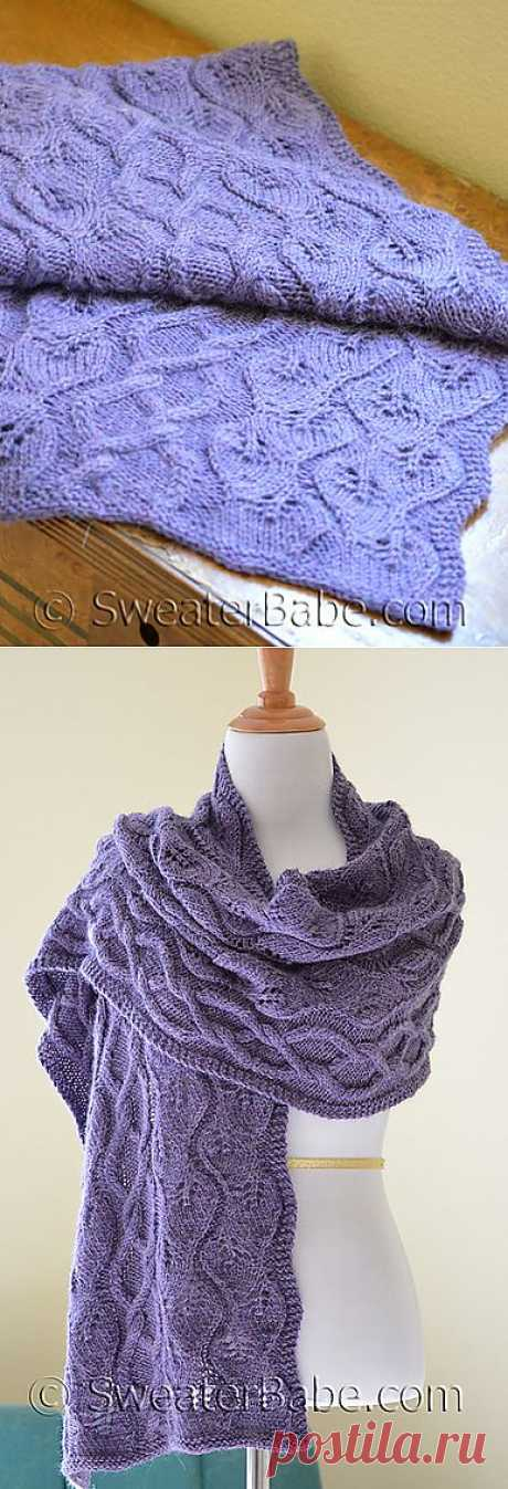 Ravelry: #174 Simpatico Alpaca Stole pattern by SweaterBabe