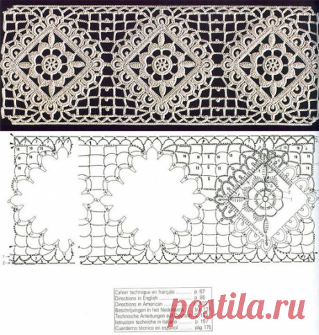 Knitted lace hook. Scheme
