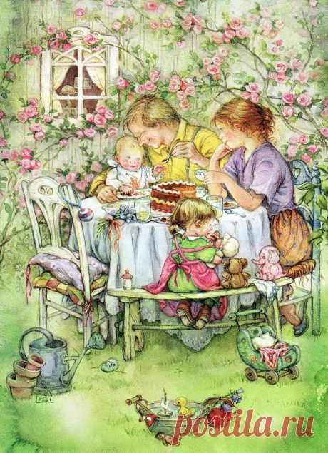 Чем пахнет детство... Художник-иллюстратор Lisi Martin.