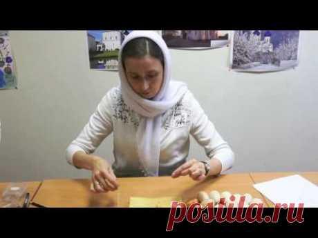 Украшаем бисером пасхальное яйцо с Натальей Краснощековой