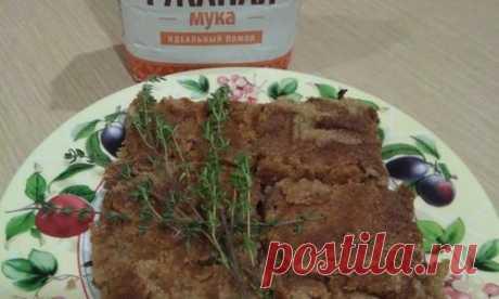 Яблочный пирог из сухого теста с ржаной мукой - пошаговый рецепт приготовления с фото