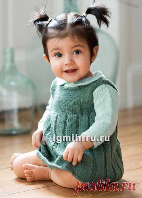 детский сарафан спицами - Самое интересное в блогах