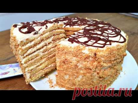 БЕЗ ДУХОВКИ и ПЕЧЕНЬЯ !!! ОБАЛДЕННЫЙ торт СМЕТАННИК. Остановиться НЕВОЗМОЖНО