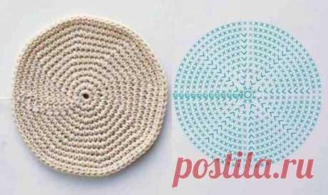 Вяжем идеальные круги и овалы. Схема