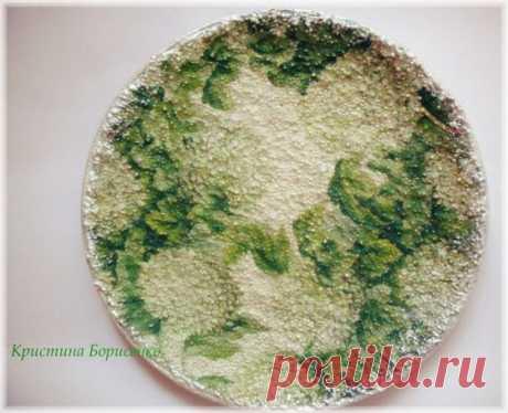 Декупаж тарелки на пшене » Планета рукоделия