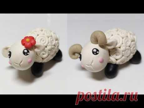 Как слепить Овцу/Барана 🐏 из мастики или пластилина (Cake/Fondant Topper - Sheep/Ram). - YouTube