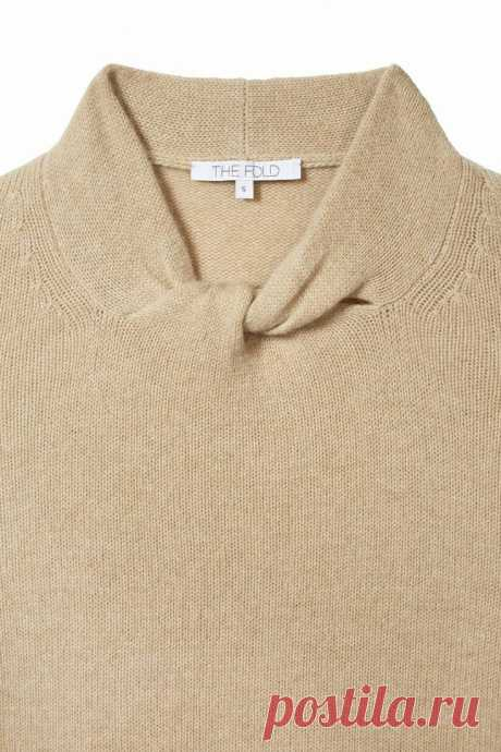 Необычный воротничок свитера Модная одежда и дизайн интерьера своими руками