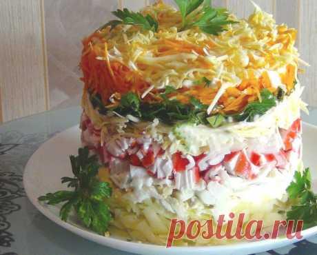 "Новый крабовый салат ""Бархат"""