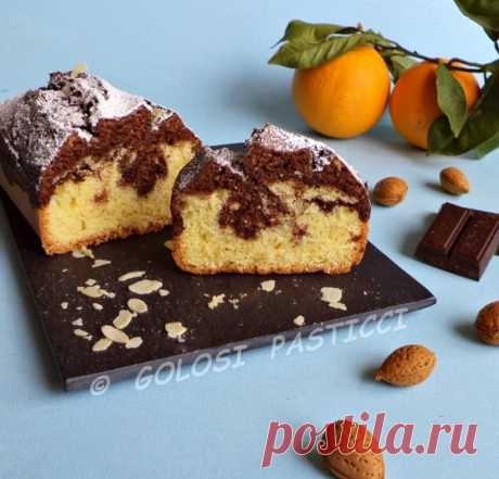 Gluttonous Pies: Plumcake marble chocolate and almonds