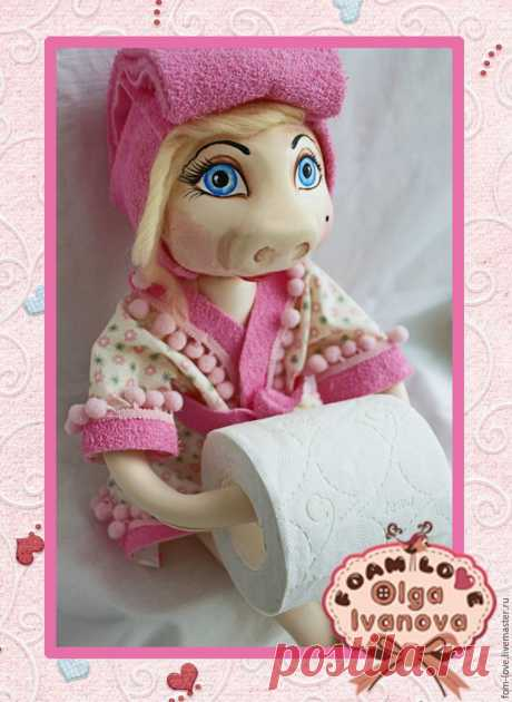 Production of a doll - the holder of toilet paper. - A fair of Masters - handwork, handmade
