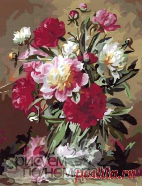 Цветы набор по номерам