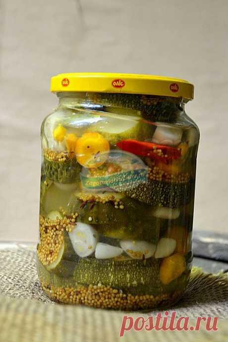 Маринованные огурцы с цукини по-немецки. Пошаговый рецепт с фото