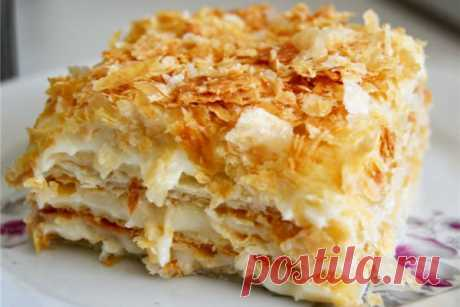 How to make cake Napoleon from ready puff yeast dough