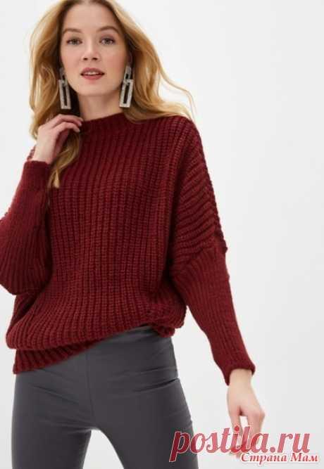 Простой свитер патентным узором - Вязание - Страна Мам