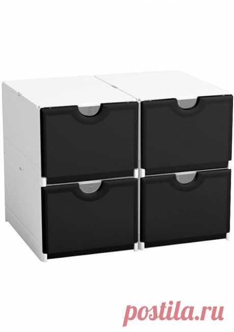 (348) Комплект контейнеров для обуви, 4 штуки   Хранение вещей