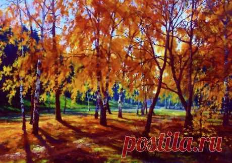 Los paisajes otoñales. La pintora Edna Wallen americana