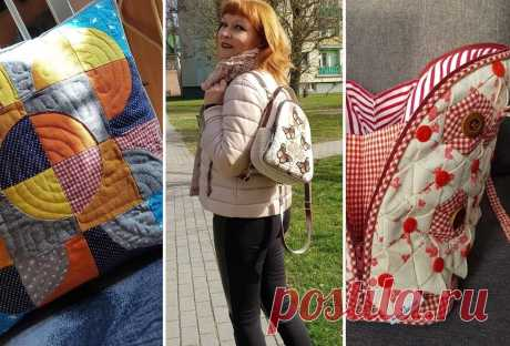 Небольшая история о том, как в зрелом возрасте можно научиться шить красивые лоскутные вещи | Подушкины секреты | Яндекс Дзен
