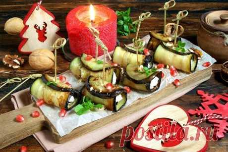 Рулетики из баклажанов с орехами — Сад Заготовки