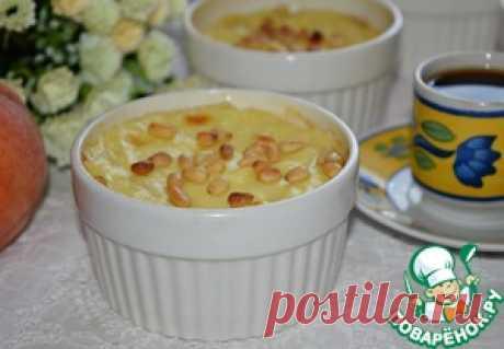 Заварной крем с персиками и орехами - кулинарный рецепт