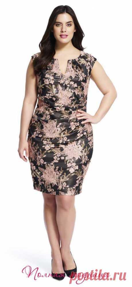 Вечерние и коктейльные платья для полных модниц американского бренда Adrianna Papell. Весна-лето 2016
