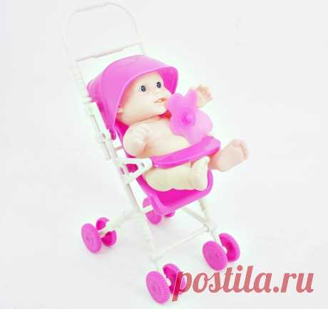 Детская коляска с пупсом для девочек розовая артикул 43297. $1.89 или 122.87 рубля. Это самая низкая оптовая цена для розничных магазинов. В подарок мы делаем бесплатную доставку до вашей торговой точки по Иркутску и Иркутской области.