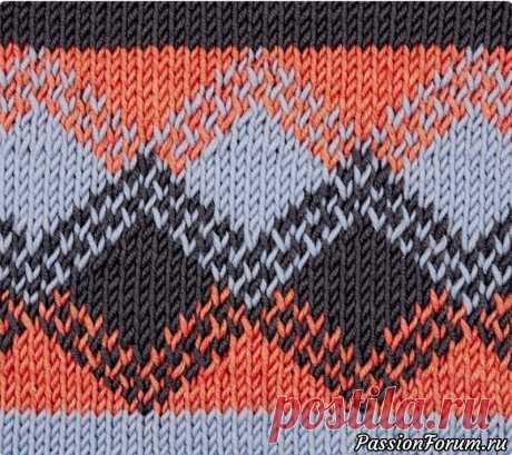 Жаккардовый узор «Малага» | Вязание спицами для начинающих Красивый геометрический узор в жаккардовой технике будет прекрасно смотреться на свитерах и кофтах.Число петель кратно 14 + 1 + 2 кром. Вязать по схеме лицевой гладью в жаккардовой технике.На схеме приведены лицевые и изнаночные ряды. Начать с 1 кром. и петли перед раппортом, раппорт...