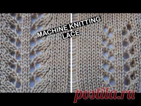 Machine knitting - Lace. How to add more depth and texture when knitting lace. Lace design idea knit