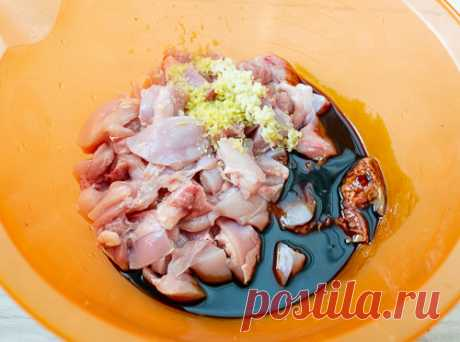 Рецепт Куриные шашлычки терияки на Вкусном Блоге