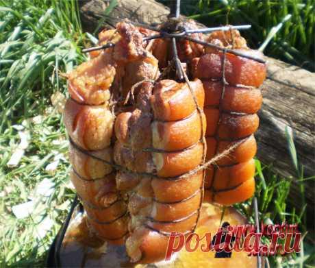 Копчение свиной грудинки
