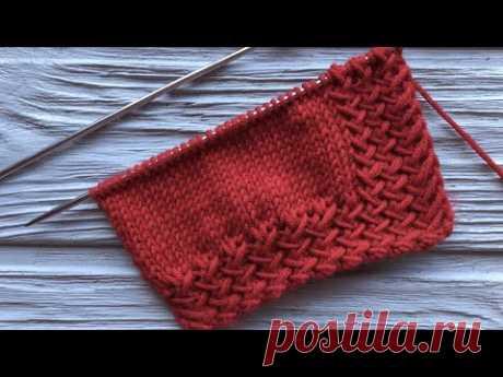 Вязание очень интересного узора, который Вы можете использовать для начала вязания, а можно как самостоятельный узор.