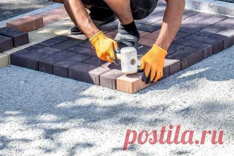 Укладка тротуарной плитки своими руками: пошаговая инструкция с фото | ivd.ru