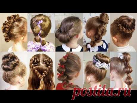 Look at 10 hairstyles that do only 1 minute. 10 easy and cute quick hairstyles tutorial. Support us on patreon https://www.patreon.com/lizasbraids