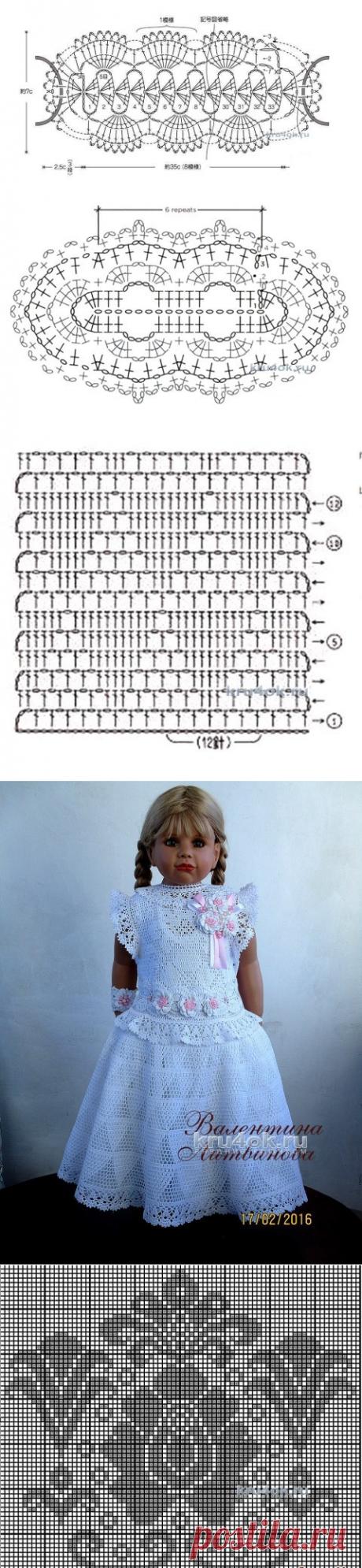 Платье Принцесса, филейное вязание. Работа Валентины Литвиновой
