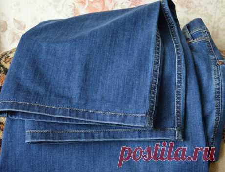 Хитрый и простой способ , чтобы это не было заметно… Подшиваем джинсы красиво — не обрезая и сохраняя строчку — HandMade