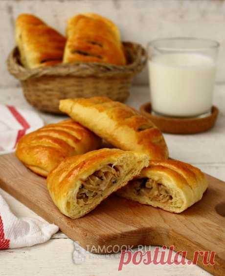 Булочки с капустой «Кармашки» — рецепт с фото пошагово. Румяные домашние булочки из дрожжевого теста с сочной капустной начинкой - прекрасное угощение на каждый день.