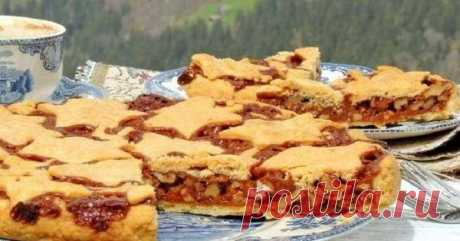 Грецкий орех в песочном тесте — вот и весь знаменитый швейцарский пирог! Бомба, а не рецепт... Лучшее, что можно сделать к чаю.