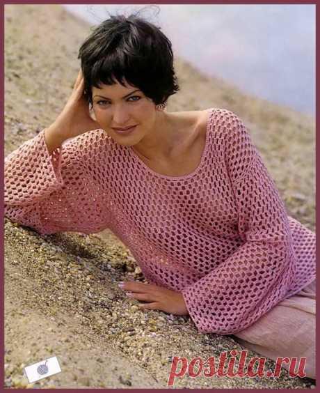 Как хорошо уметь вязать: Ажурный пуловер...
