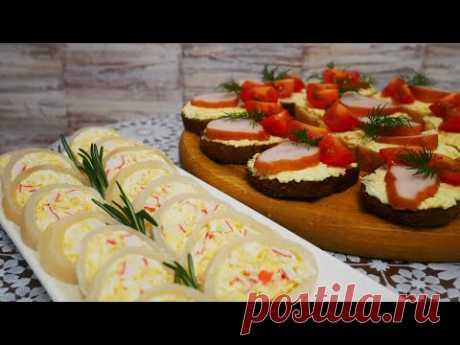 Фаршированные КАЛЬМАРЫ салатом. Бутерброды на праздничный стол, Новый Год, новогодний стол - YouTube