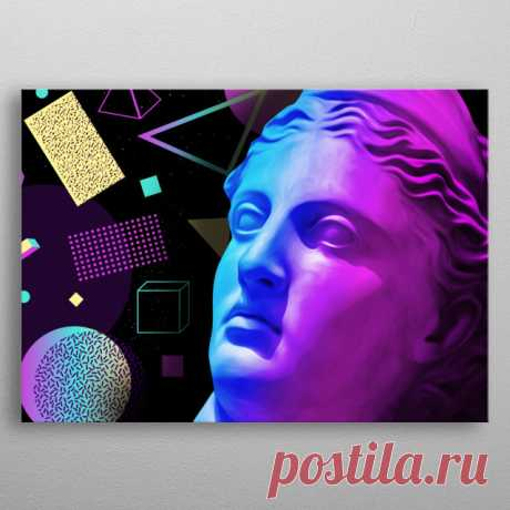 Ancient neon gods Artemis Pop Art Poster Print | metal posters - Displate