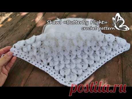 Шаль «Полет Бабочки» крючком 🦋 Crochet «Butterfly Flight» Shawl - YouTube шаль крючком,как вязать шаль,узор,узор крючком,узор для шали крючком,Crochet,Shawl crochet,Shawl,узоры крючком,crochet,crochet pattern,croche,крючком,кружево крючком,кружево,вязание,Crochet Lace Tape,crochet बुनाई पैटर्न,हुक,बुनना,crochete,узор крючком от угла,узор крючком схема,кружевной узор,кружевной узор крючком,Crochet Lace pattern