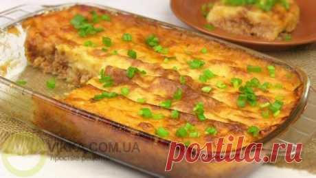 Пастуший пирог с фаршем-картофельная запеканка из пюре