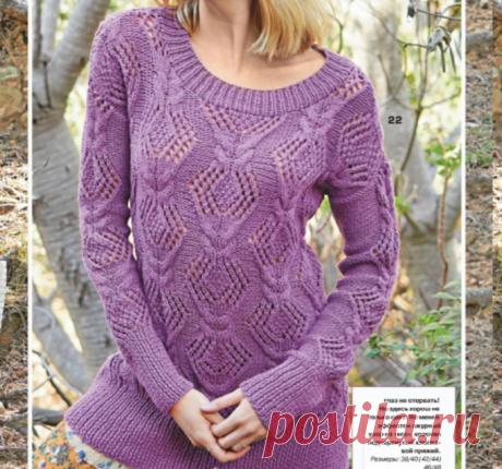 Вязаная подборка на теплую осень: нежные ажурные модели спицами!