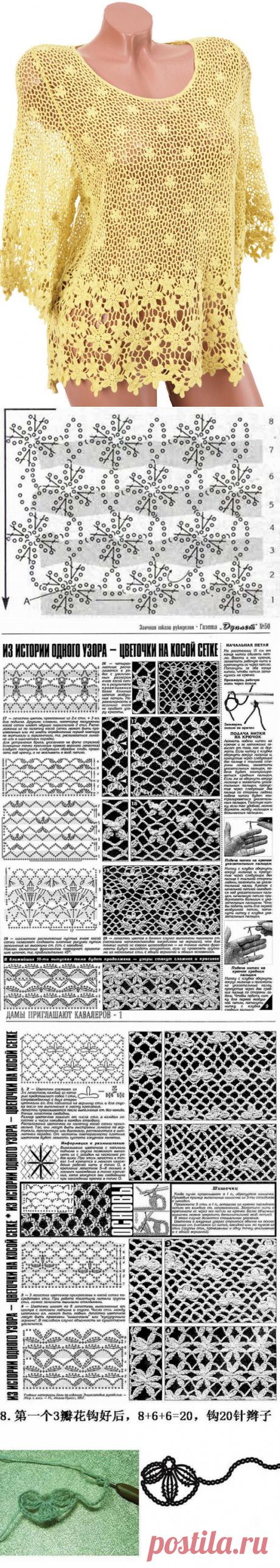 """Туника - """"Цветы в сетях солнечных лучей"""""""